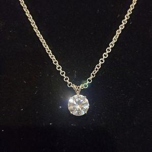 🆕️💎Amazing sparkle .924 10mm cz necklace